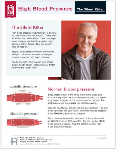High Blood Pressure Tearpad (50 sheets per pad) (634B) - front panel