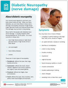 Diabetic Neuropathy Tearpad Side 1