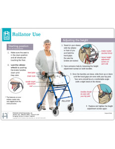Rollator Use Tearpad (50 sheets per pad) (554A) - front side