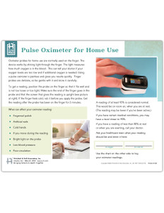 Pulse Oximeter for Home Use Tearpad (50 Sheets per pad) (660) - front side