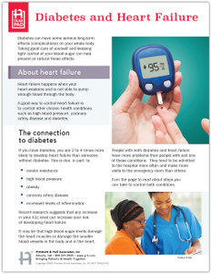 Diabetes and Heart Failure Tear Sheet (662) - front side