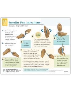 Insulin Pen Injections: Using a Disposable Pen Tearpad (50 Sheets per pad) (661) - front side