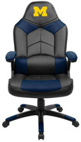 Michigan Wolverines Full Leather Office Chair