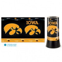 Iowa Hawkeyes Rotating Team Lamp