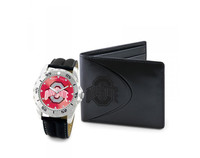 Ohio State Buckeyes NCAA Mens Leather Watch and Wallet Gift Set