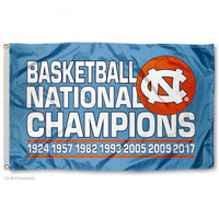 North Carolina Tar Heels 2017 NCAA National Basketball Champions 3' x 5' Flag