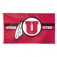 Utah Utes NCAA 3x5 Team Flag