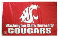 Washington State Cougars NCAA 3x5 Team Flag