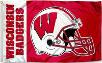 Wisconsin Badgers 3x5 Helmet Team Flag