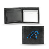 Carolina Panthers Embroidered Billfold Leather Wallet