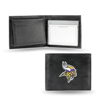 Minnesota Vikings Embroidered Billfold Leather Wallet