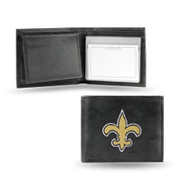 New Orleans Saints Embroidered Billfold Leather Wallet