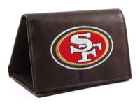 San Francisco 49ers Embroidered Billfold Leather Wallet