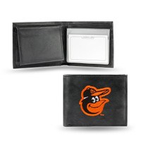 Baltimore Orioles Embroidered Billfold Leather Wallet