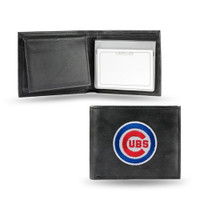 Chicago Cubs Embroidered Billfold Leather Wallet