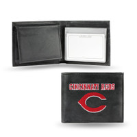 Cincinnati Reds Embroidered Billfold Leather Wallet