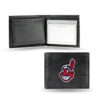 Cleveland Indians Embroidered Billfold Leather Wallet