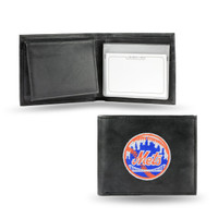 New York Mets Embroidered Billfold Leather Wallet