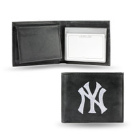 New York Yankees Embroidered Billfold Leather Wallet