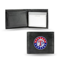Texas Rangers Embroidered Billfold Leather Wallet