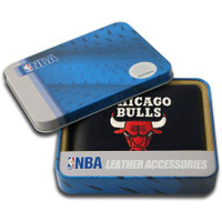Chicago Bulls Embroidered Billfold Leather Wallet