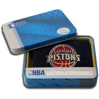 Detroit Pistons Embroidered Billfold Leather Wallet