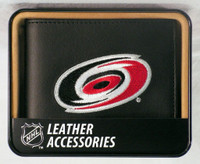 Carolina Hurricanes Embroidered Billfold Leather Wallet
