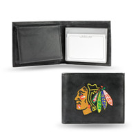 Chicago Blackhawks Embroidered Billfold Leather Wallet