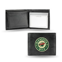 Minnesota Wild Embroidered Billfold Leather Wallet