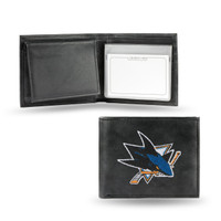 San Jose Sharks Embroidered Billfold Leather Wallet