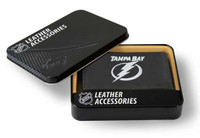 Tampa Bay Lightning Embroidered Billfold Leather Wallet