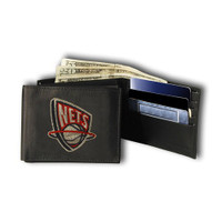 Brooklyn Nets Embroidered Billfold Leather Wallet
