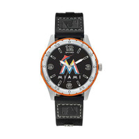 Miami Marlins Team Leather Watch by Sparo