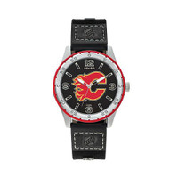 Calgary Flames Team Leather Watch by Sparo