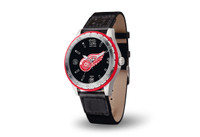 Detroit Red Wings Team Leather Watch by Sparo