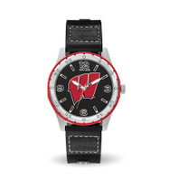 Wisconsin Badgers Team Leather Watch by Sparo