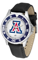 Arizona Wildcats Competitor Leather Watch White Dial
