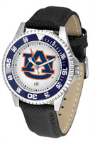 Auburn Tigers Competitor Leather Watch White Dial