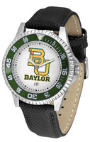 Baylor Bears Competitor Leather Watch White Dial