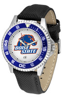 Boise State Broncos Competitor Leather Watch White Dial
