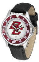 Boston College Eagles Competitor Leather Watch White Dial