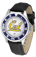 California Berkeley Golden Bears Competitor Leather Watch White Dial