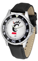 Cincinnati Bearcats Competitor Leather Watch White Dial