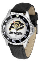 Colorado Buffaloes Competitor Leather Watch White Dial