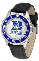 Duke Blue Devils Competitor Leather Watch White Dial