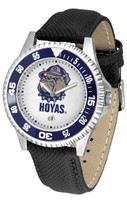 Georgetown Hoyas Competitor Leather Watch White Dial