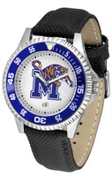 Memphis Tigers Competitor Leather Watch White Dial