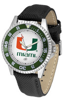 Miami Hurricanes Competitor Leather Watch White Dial