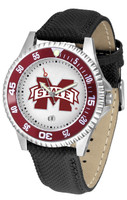 Mississippi State Bulldogs Competitor Leather Watch White Dial