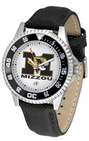 Missouri Tigers Competitor Leather Watch White Dial